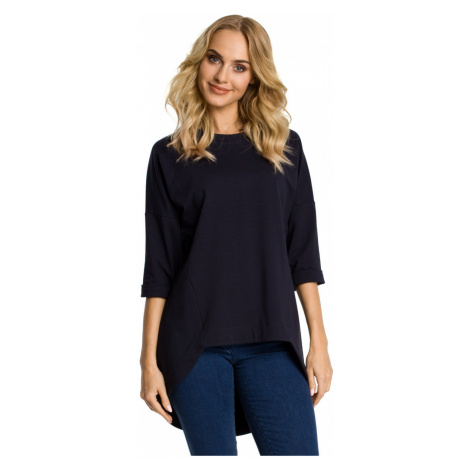 Made Of Emotion Woman's Tunic M346 Navy Blue