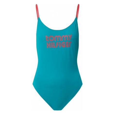Tommy Hilfiger Underwear Strój kąpielowy 'ONE-PIECE HIGH LEG' niebieski