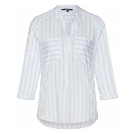 VERO MODA Bluzka 'Erika' biały / jasnoniebieski