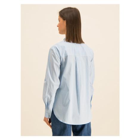 Guess Koszula Ls Isa W01H58 WCLQ0 Niebieski Regular Fit
