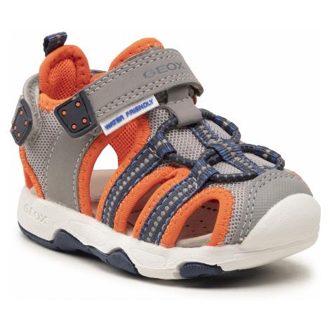 Sandały GEOX - B S.Multy B. B B920FB 05014 C1040 M Grey/Fluo Orange