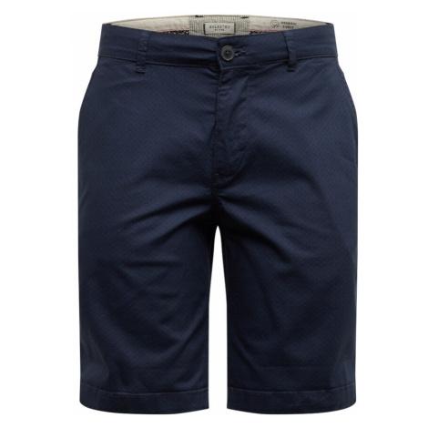 SELECTED HOMME Spodnie 'Paris' ciemnoszary / ciemny niebieski