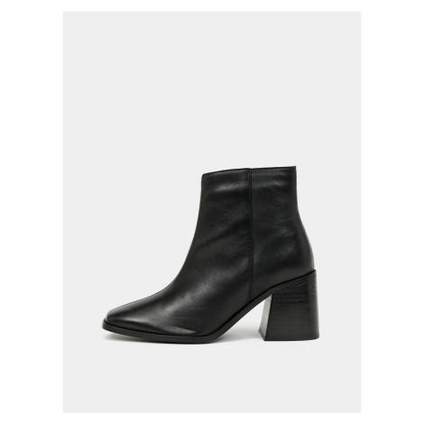 Dorothy Perkins czarny botki skórzane buty