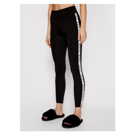 DKNY Spodnie piżamowe YI3822471 Czarny Slim Fit