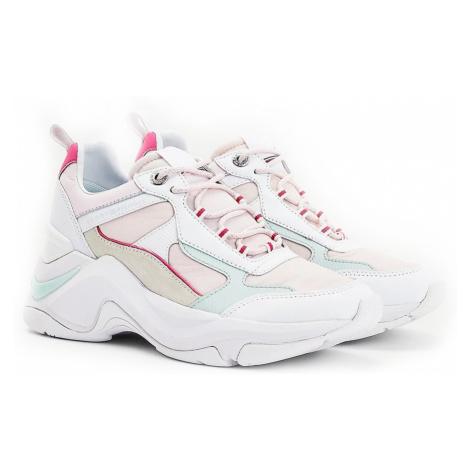 Tommy Hilfiger biały skórzane trampki Fashion Wedge Sneaker