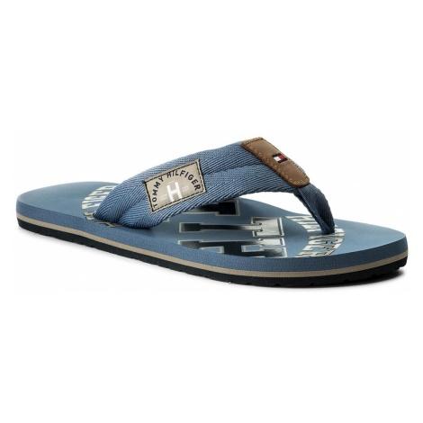 Japonki TOMMY HILFIGER - Essential Th Beach Sandal FM0FM01369 Jeans 013