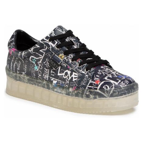 Sneakersy DKNY - Emz K1044529 Graf Print Lthr Blk/Multi 4B3