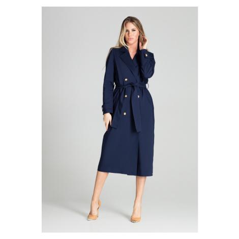 Figl Woman's Coat M698 Navy Blue