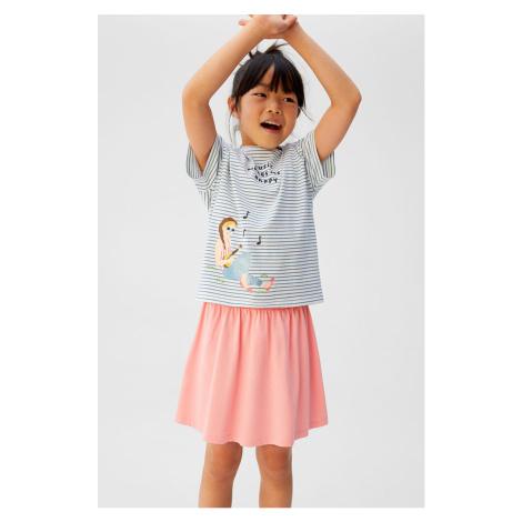 Mango Kids - Spódnica dziecięca Skaty 110-164 cm
