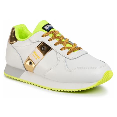 Sneakersy BLAUER - S0LILLI02/LEA S White/Yellow/Gold
