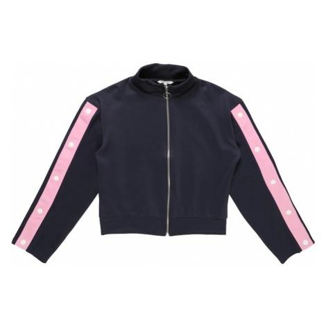 REVIEW FOR TEENS Bluza rozpinana granatowy / różowy pudrowy