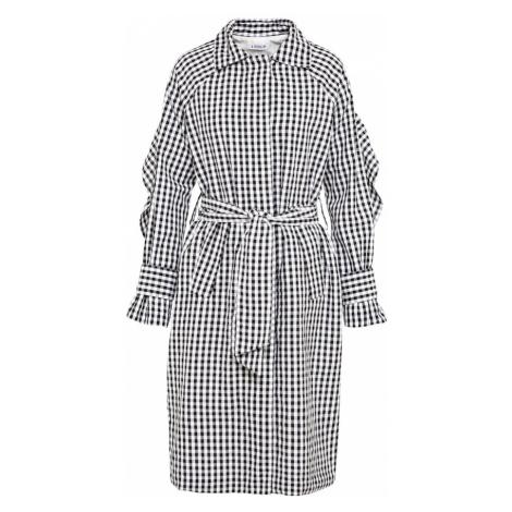 EDITED Płaszcz przejściowy 'Bella' czarny / biały