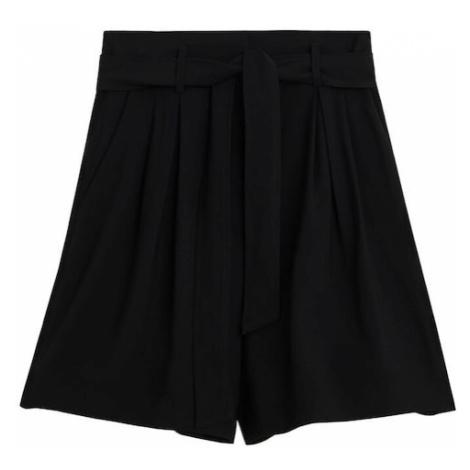 MANGO Spodnie czarny