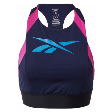 REEBOK Biustonosz sportowy jasnoniebieski / różowy / niebieska noc