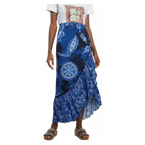 Desigual niebieska spódnica Fal Nerea
