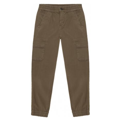 Guess Spodnie materiałowe L1RB00 WDSX0 Zielony Regular Fit