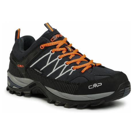 Trekkingi CMP - Rigel Low Trekking Shoes Wp 3Q13247 Antracite/Flash Orange 56UE