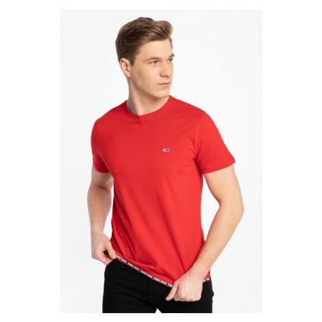 Koszulka Tommy Jeans Z Krótkim Rękawem Tjm Branded Tape Hem Tee Dm0Dm10284Xnl Red Tommy Hilfiger