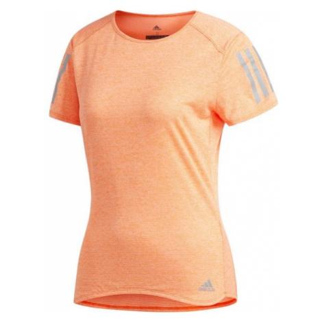 adidas RESPONSE TEE W pomarańczowy XS - Koszulka do biegania damska