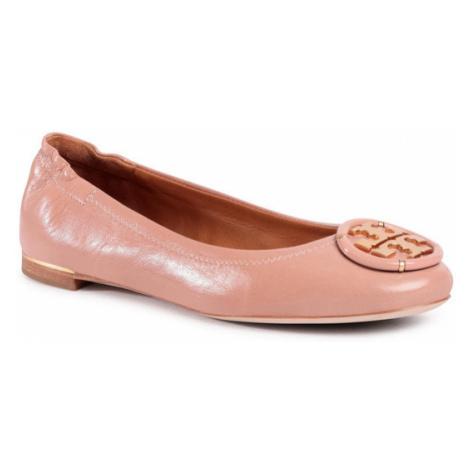 Tory Burch Baleriny Multi Logo Elastic Ballet 82218 Różowy