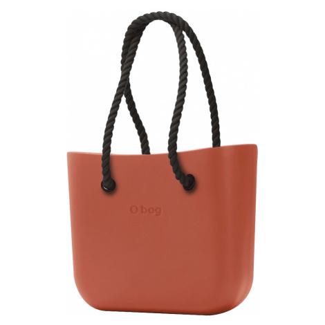 O bag torebka Terracotta z długimi czarnymi linami