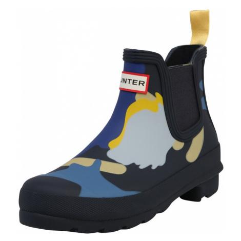 HUNTER Gumiaki 'ORIGINAL CHELSEA ROCKPOOL CAMO BOOTS' beżowy / ciemny niebieski