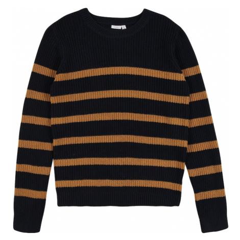 NAME IT Sweter 'Rolf' niebieski / pomarańczowy