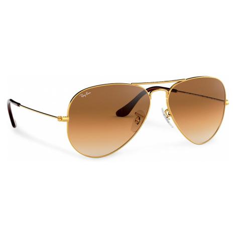 Okulary przeciwsłoneczne RAY-BAN - Aviator Large Metal 0RB3025 001/51 Gold/Brown Classic