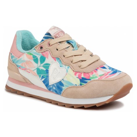 Sneakersy PEPE JEANS - Belle Flowers PGS30440 Beige 844