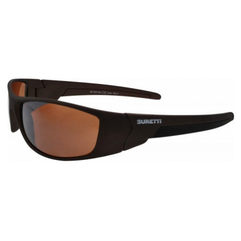 Suretti S5018 pomarańczowy  - Okulary przeciwsłoneczne sportowe