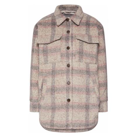 Neo Noir Kurtka przejściowa 'Pike Melange Check Jacket' beżowy / jasnoszary / różowy pudrowy