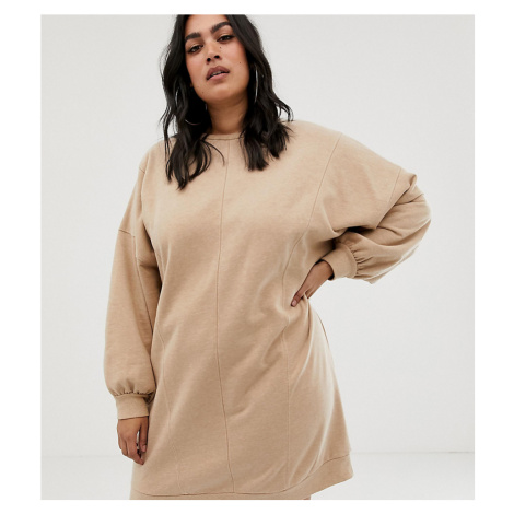 ASOS DESIGN Curve seamed sweat dress