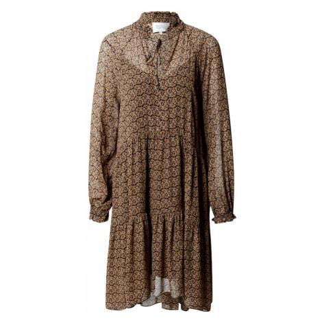 SECOND FEMALE Sukienka 'Pradoto' brązowy / czarny / biały