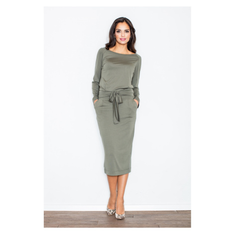 Figl Woman's Dress M246 Olive