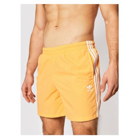 Adidas Szorty kąpielowe 3-Stripe Swims GN3525 Pomarańczowy Regular Fit