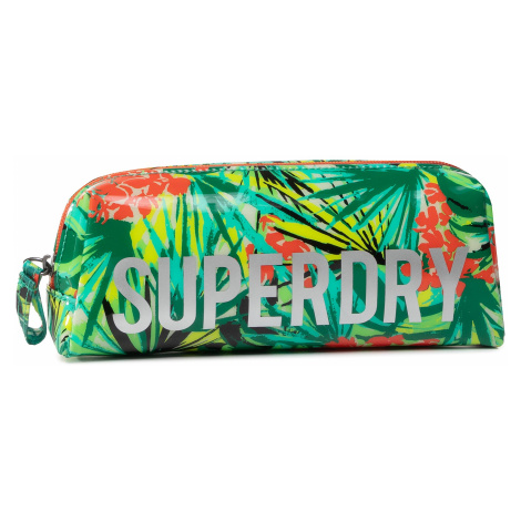 Piórnik SUPERDRY - Jelly Pencil Case W9810025A Green Tropical