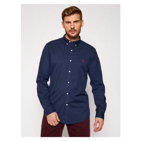 Polo Ralph Lauren Koszula Slbdppcs 710815557003 Granatowy Slim Fit