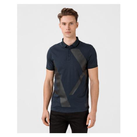 Armani Exchange Polo Koszulka Niebieski