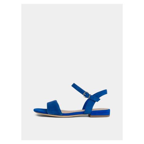 Niebieskie zamszowe sandały Tamaris