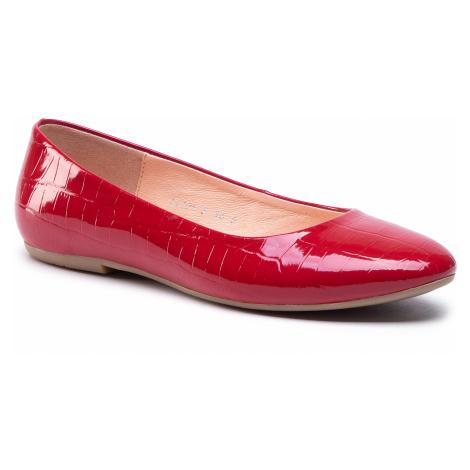 Baleriny BALDACCINI - 1472500 Krokodyl Czerwony