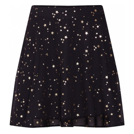 Mint&berry Spódnica 'Skater skirt with gold star foil print' złoty / czarny