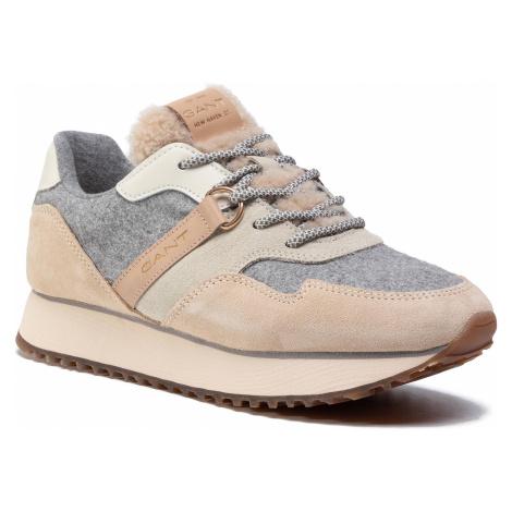 Sneakersy GANT - Bevinda 21533829 Beige/Gray/Khaki G101