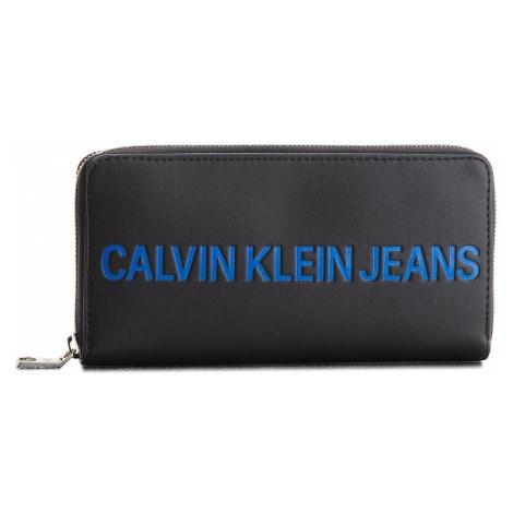 Duży Portfel Damski CALVIN KLEIN JEANS - Sculpted Zip Around K40K400408 001