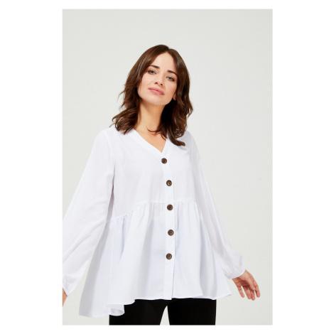 Moodo biała luźna koszula