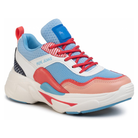 Sneakersy PEPE JEANS - Sinyu Girl Graphic PGS30447 Horizon Blue 522