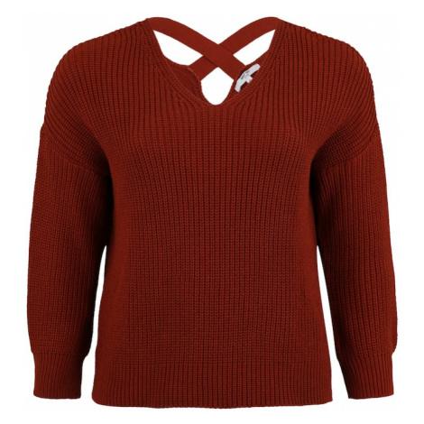 ABOUT YOU Curvy Sweter 'Liliana' rdzawobrązowy