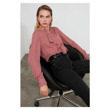 Trendyol Rose Dry Frilled Shirt