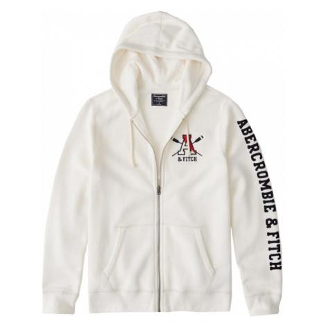 Abercrombie & Fitch Bluza rozpinana 'OLD SCHOOL LOGO FULLZIP EXT' biały