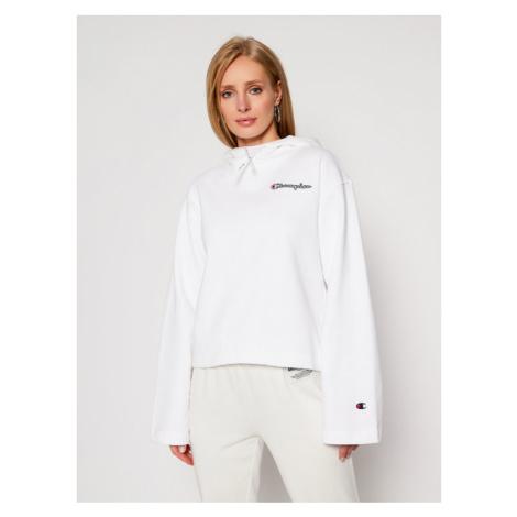 Champion Bluza Hooded 113186 Biały Custom Fit