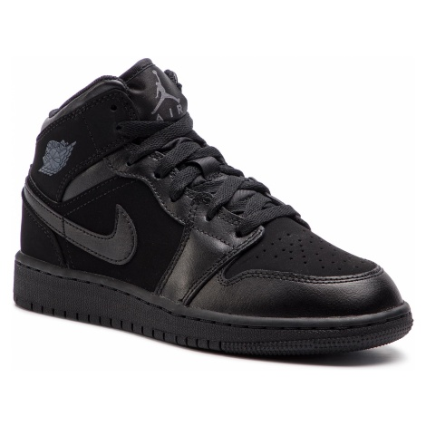 Buty NIKE - Air Jordan 1 Mid (GS) 554725 050 Black/Dark Grey/Black